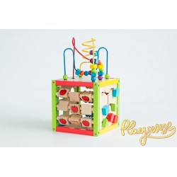 Wooden Activity Cube Playsense