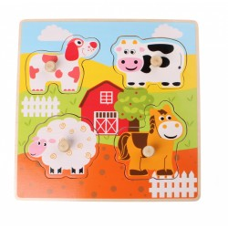 Wooden Peg Puzzle - Farm...