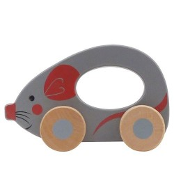 Mouse - Wooden Rolling Animal