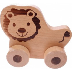 Lion - Wooden Rolling Animal