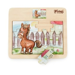 PINO Horse Puzzle (12 elements)