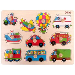 Wooden Peg Puzzle Traffic (10 elements)