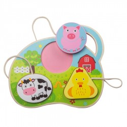Wooden Shape Puzzle - Farm...