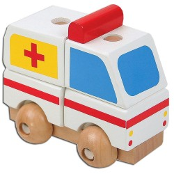 PINO Mini 3D wooden puzzle Ambulance