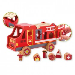 Fire Truck - Wooden Shape Sorter