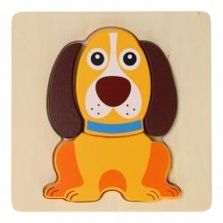 Дървен пъзел Jouéco - Кученце