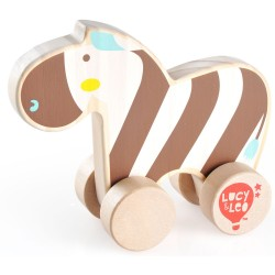 Zebra - Wooden Rolling Animal Lucy&Leo