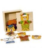 PINO wooden puzzles in a box