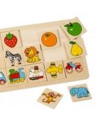 ПИНО дървени пъзели - логически игри